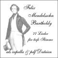 Mendelssohn Lieder CD