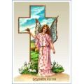 Gesegnete Ostern Engel am Kreuz