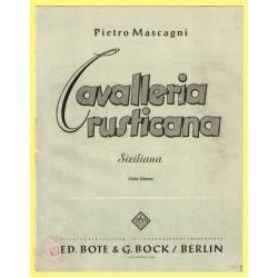 Cavalleria rusticana, Nr. 1, Siziliana