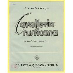 Cavalleria rusticana, Nr. 8, Turiddu's Abschied von der Mutter
